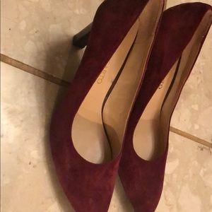 Franco santo high heels cranberry